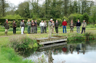 Trout fishing demonstration